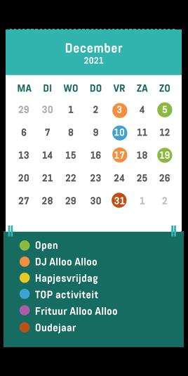 Kalender café Alloo december