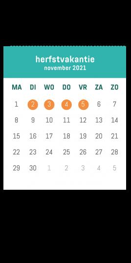 kalender herfst VOLT