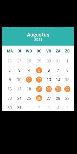 Kalender augustus #tijdvoorvrijetijd