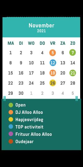 Kalender café Alloo november