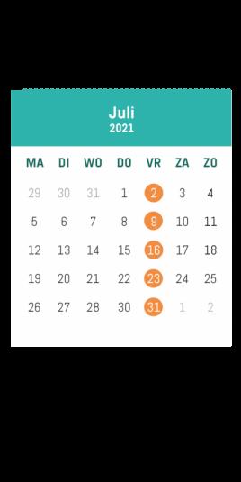 Kalender café Alloo juli